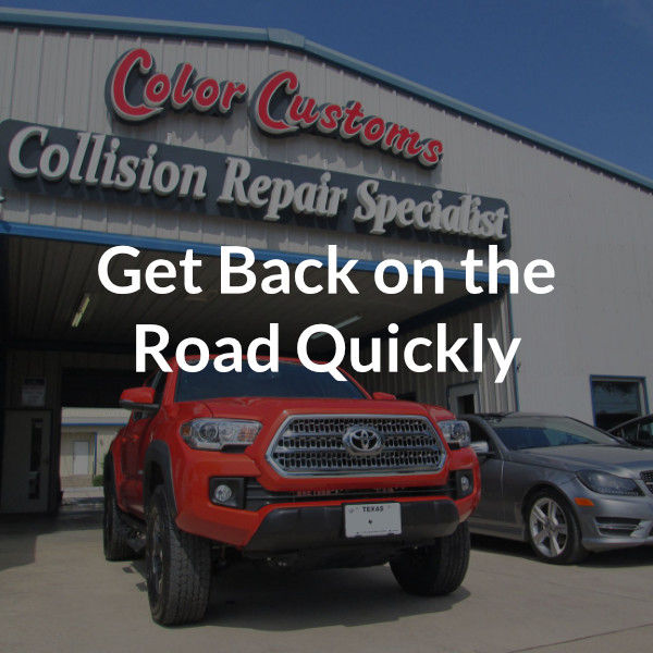 Get back on the road quickly
